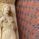 Eglise Ste Foy - détail du portail