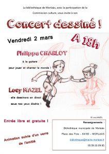 Concert dessiné @ Bibliothèque