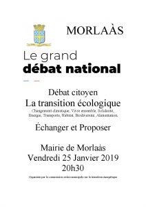 Débat transition écologique @ Salle de conférence - Mairie de Morlaàs