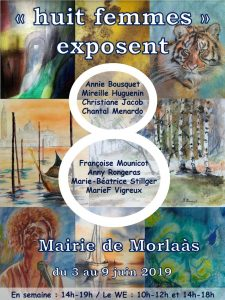 Huit femmes exposent @ Mairie de Morlaàs