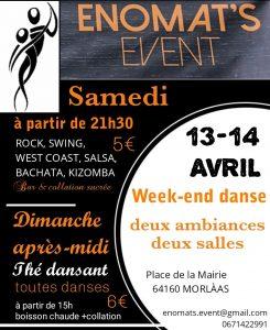Week-end de danse Enomats Event @ Salles de réception et de conférence