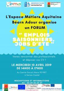 Forum Emplois saisonniers, jobs d'été @ Centre Alexis Peyret
