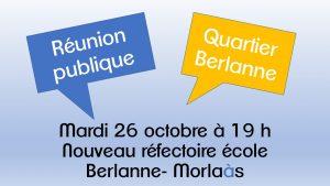 Réunion publique - Quartier Hourquie @ Nouveau réfectoire